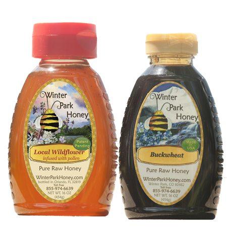Winter Honey Sampler 2 x 16 oz. - Kosher