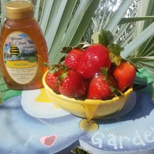key lime honey and strawberries
