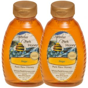 2 bottles sage honey