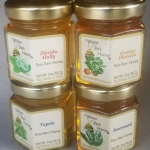 Four jar honey sampler