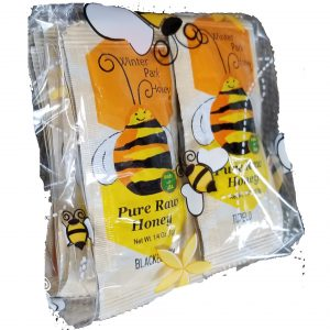 bee bag full of individual honey packets