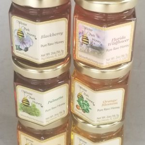 florida honey sampler with 6 2oz hex jars