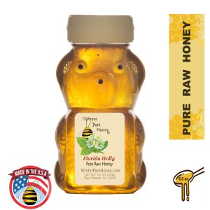 honey bea filled with gallberry honey